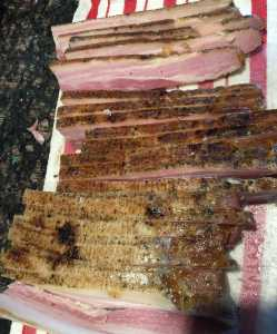 This week's science project: Home-cured bacon!